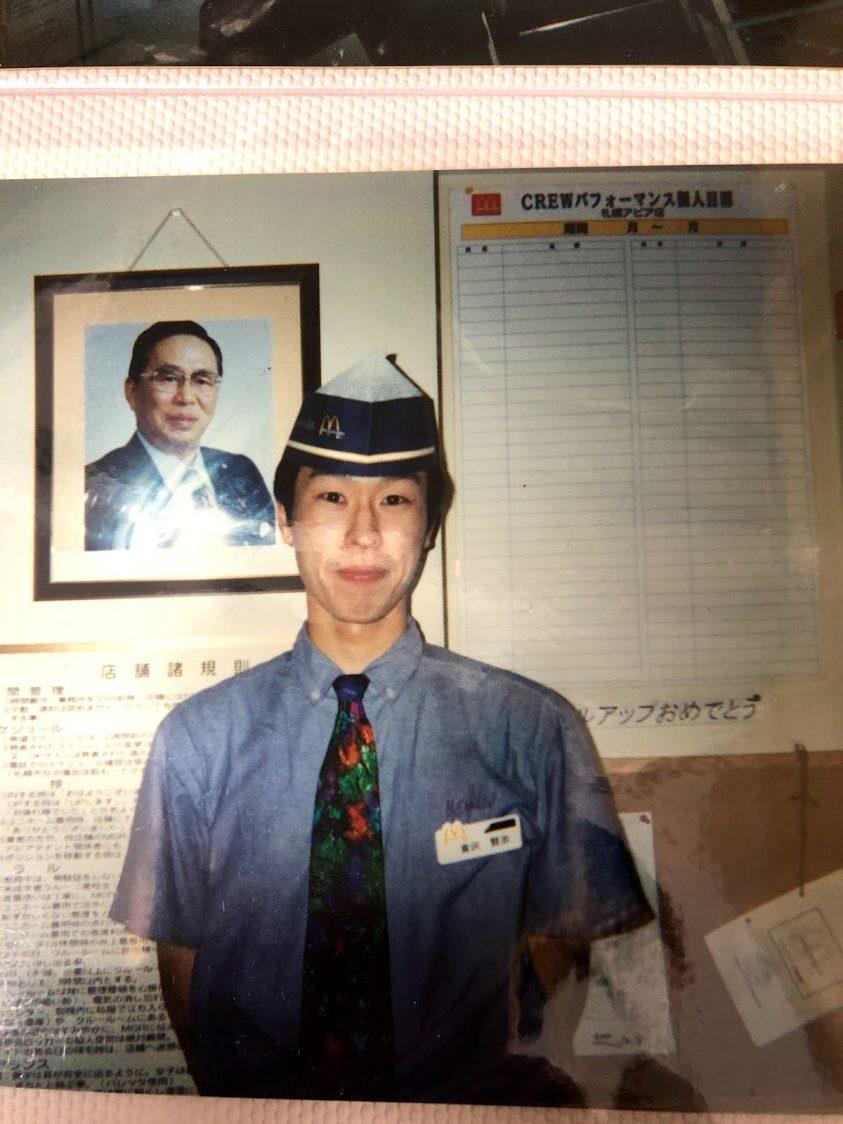 マネージャーを勉強中の2000年ころの写真です。藤田社長との貴重なツーショット。 夢と希望に満ちています。